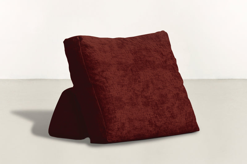 The Millennial Pillow Pillow Crushed Micro-Chenille Bordeaux Whom. Home