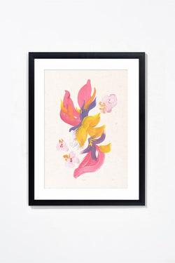 "Orchidées. Wall Art Wall Art Underglass Black Frame / 17.25"" x 21.25"" Whom. Home"