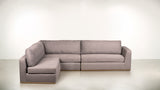 The Innovator Left-Facing Sectional | Silver Legs L Modular Sectional  Whom. Home
