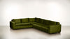 The Fifth Wheel L Sectional Lightweight Micro-Chenille Avocado / Chocolate Whom. Home
