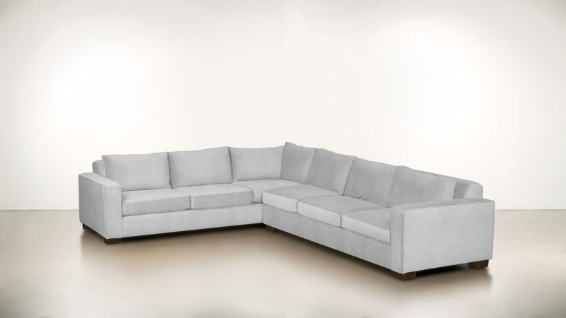 The Guardian L Sectional 2-Piece Set Lightweight Micro-Chenille Dove / Chocolate Whom. Home