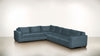 The Guardian L Sectional 2-Piece Set Lightweight Micro-Chenille French Blue / Chocolate Whom. Home