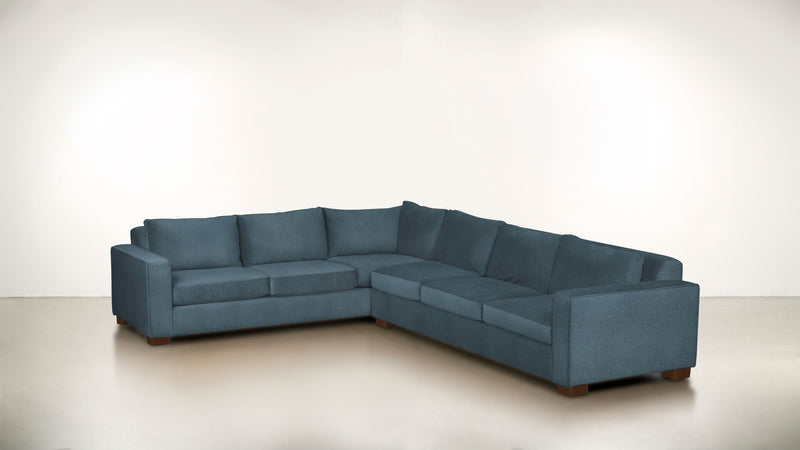 The Guardian L Sectional 2-Piece Set Lightweight Micro-Chenille French Blue / Hazel Whom. Home