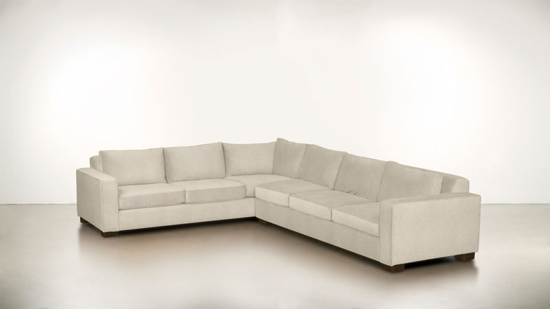 The Guardian L Sectional 2-Piece Set Lightweight Micro-Chenille Sand / Chocolate Whom. Home