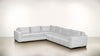 The Fifth Wheel L Sectional Lightweight Micro-Chenille Snow / Chocolate Whom. Home