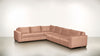 The Fifth Wheel L Sectional Soft Heathered Weave Blush / Chocolate Whom. Home