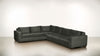 The Fifth Wheel L Sectional Soft Heathered Weave Charcoal / Chocolate Whom. Home
