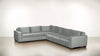 The Guardian L Sectional 2-Piece Set Velvet Knit Ash / Chocolate Whom. Home