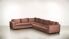 The Fifth Wheel L Sectional Velvet Knit Blush / Chocolate Whom. Home