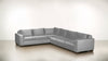 The Guardian L Sectional 2-Piece Set Velvet Knit Dove / Chocolate Whom. Home
