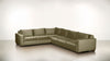 The Guardian L Sectional 2-Piece Set Velvet Knit Mondo / Chocolate Whom. Home
