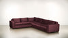 The Guardian L Sectional 2-Piece Set Velvet Knit Rose / Chocolate Whom. Home