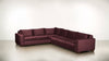 The Fifth Wheel L Sectional Velvet Knit Rose / Hazel Whom. Home