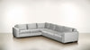 The Fifth Wheel L Sectional Velvet Knit White / Chocolate Whom. Home