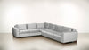 The Fifth Wheel L Sectional Velvet Knit White / Hazel Whom. Home