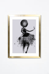 Couture II Wall Art Wall Art Underglass Gold Frame / 17.25'' x 21.25'' Whom. Home