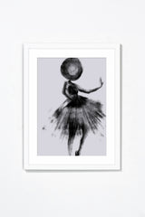 Couture II Wall Art Wall Art Underglass White Frame / 17.25'' x 21.25'' Whom. Home