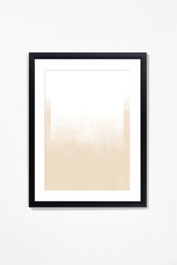 White Gradient Wall Art Wall Art Underglass Black Frame / 17.25'' x 21.25'' Whom. Home