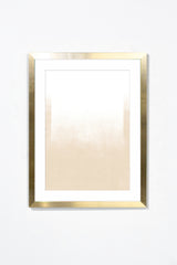 White Gradient Wall Art Wall Art Underglass Gold Frame / 17.25'' x 21.25'' Whom. Home