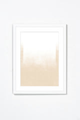 White Gradient Wall Art Wall Art Underglass White Frame / 17.25'' x 21.25'' Whom. Home