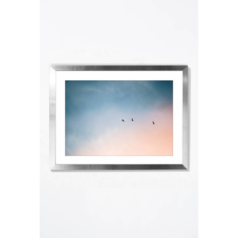 Head in the Clouds. Wall Art Wall Art Underglass Silver Frame / 21.25 '' x  17.25'' Whom. Home