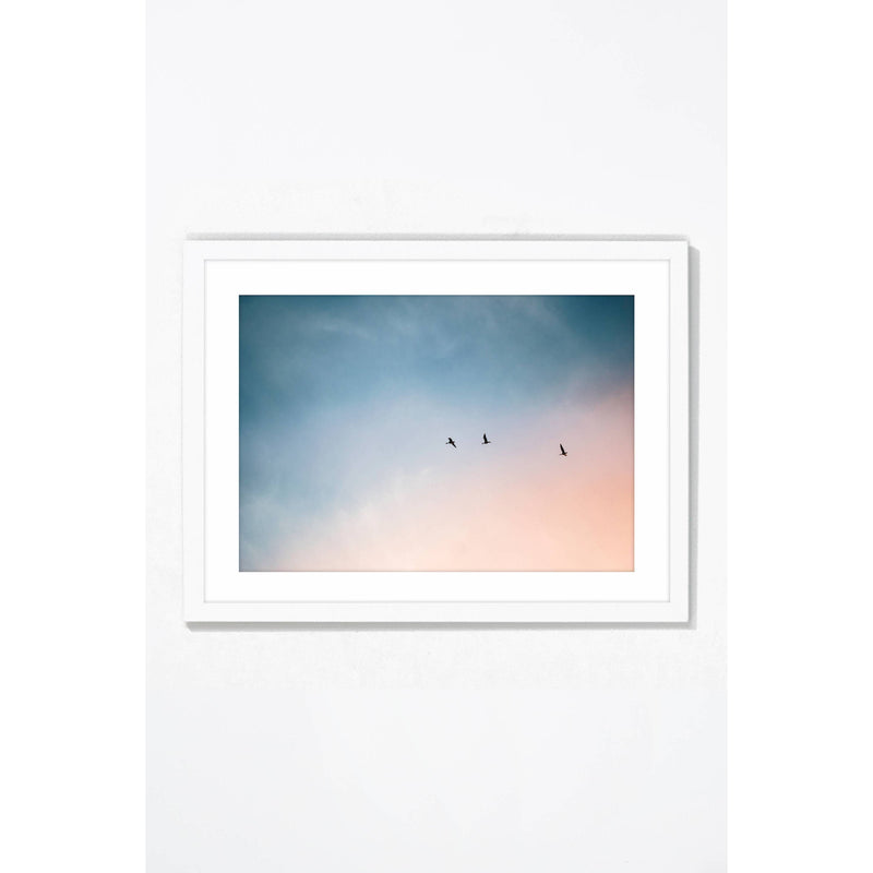 Head in the Clouds. Wall Art Wall Art Underglass White Frame / 21.25 '' x  17.25'' Whom. Home