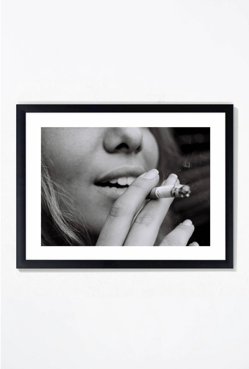 Smoke Break Wall Art Wall Art Black / 21.25 '' x  17.25'' Whom. Home