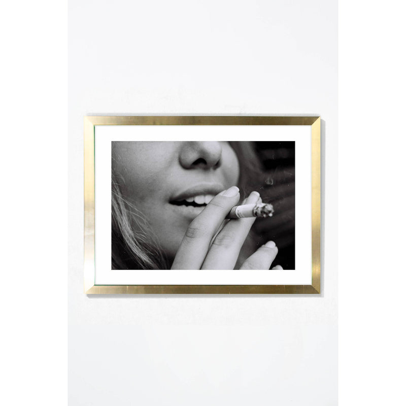 Smoke Break Wall Art Wall Art Gold / 21.25 '' x  17.25'' Whom. Home