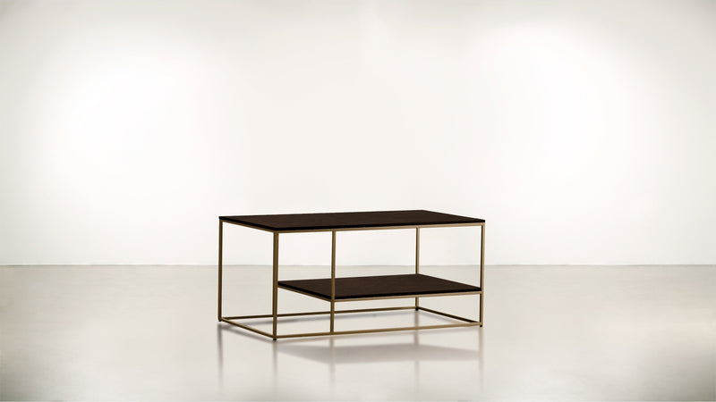 The Accomplice Coffee Table Coffee Table Brass / Chocolate Whom. Home