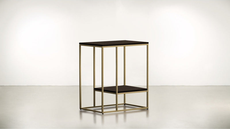 The Accomplice Side Table Side Table Chocolate / Brass Whom. Home