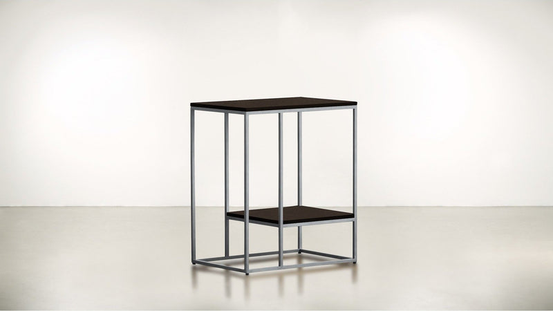 The Accomplice Side Table Side Table Chocolate / Silver Whom. Home