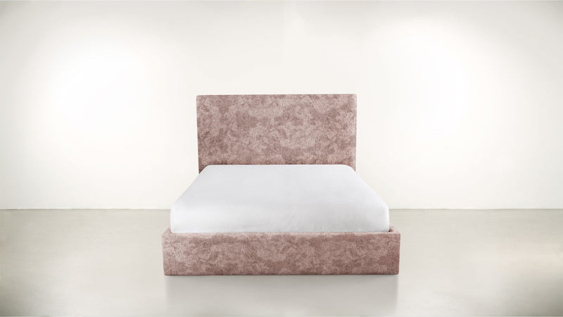 The Admirer Cal King Bed Cal King Crushed Micro-Chenille Blush Whom. Home