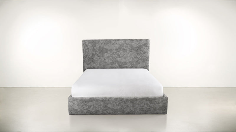 The Admirer Cal King Bed Cal King Crushed Micro-Chenille Granite Whom. Home