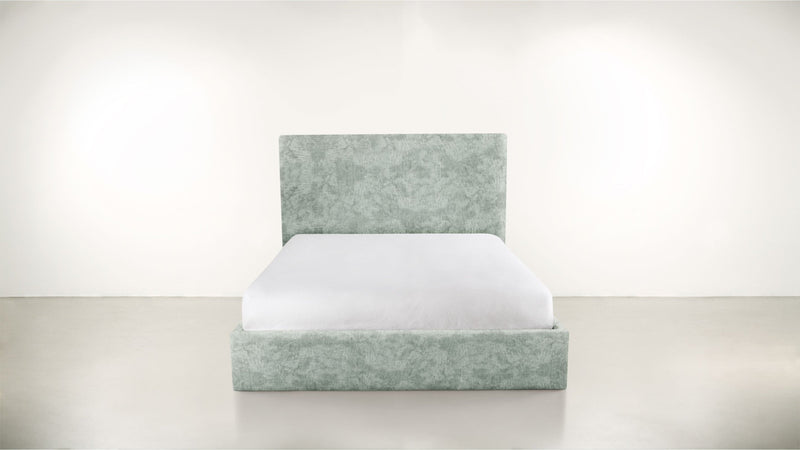 The Admirer Cal King Bed Cal King Crushed Micro-Chenille Mint Whom. Home