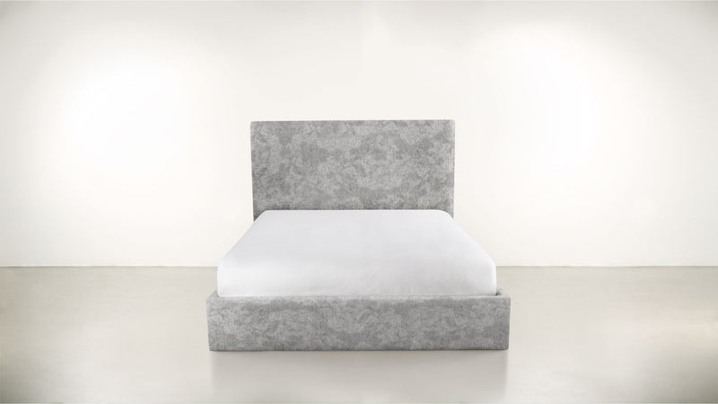 The Admirer Cal King Bed Cal King Crushed Micro-Chenille Stone Whom. Home