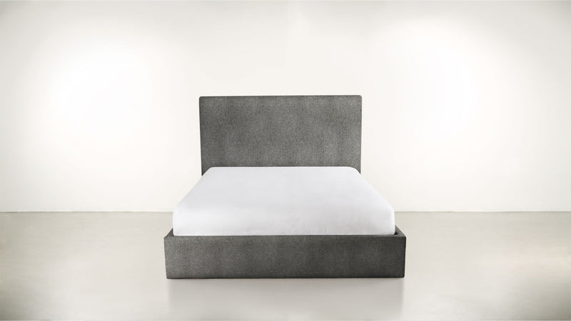 The Admirer Cal King Bed Cal King Soft Heathered Weave Charcoal Whom. Home