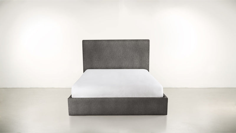 The Admirer Cal King Bed Cal King Structured Linen Weave Charcoal Whom. Home