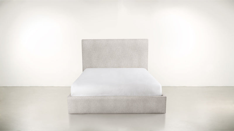 The Admirer Cal King Bed Cal King Structured Linen Weave Dove Whom. Home