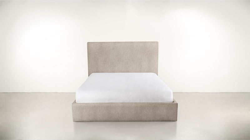 The Admirer Cal King Bed Cal King Structured Linen Weave Sand Whom. Home