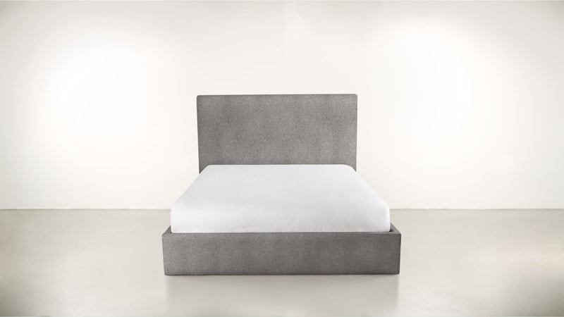 The Admirer Cal King Bed Cal King Structured Linen Weave Steel Whom. Home
