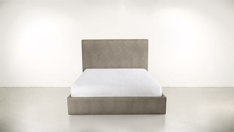 The Admirer Cal King Bed Cal King Structured Linen Weave Taupe Whom. Home