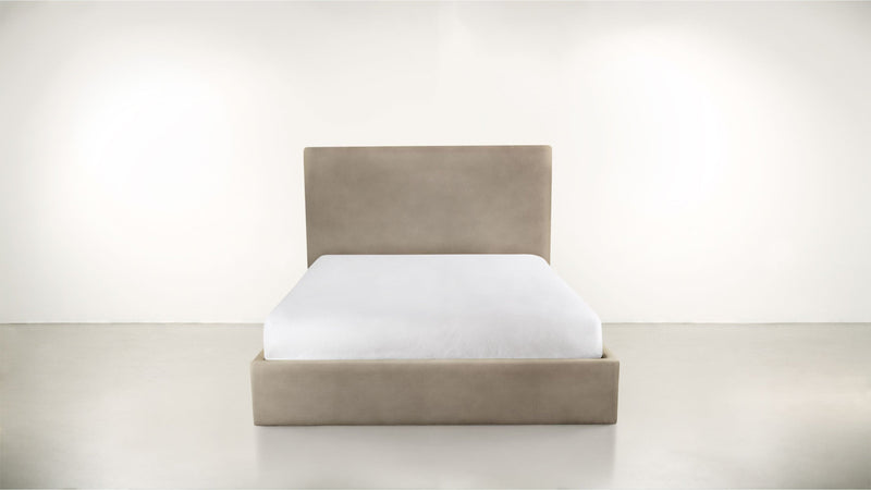 The Admirer Cal King Bed Cal King Structured Velvet Biscotti Whom. Home
