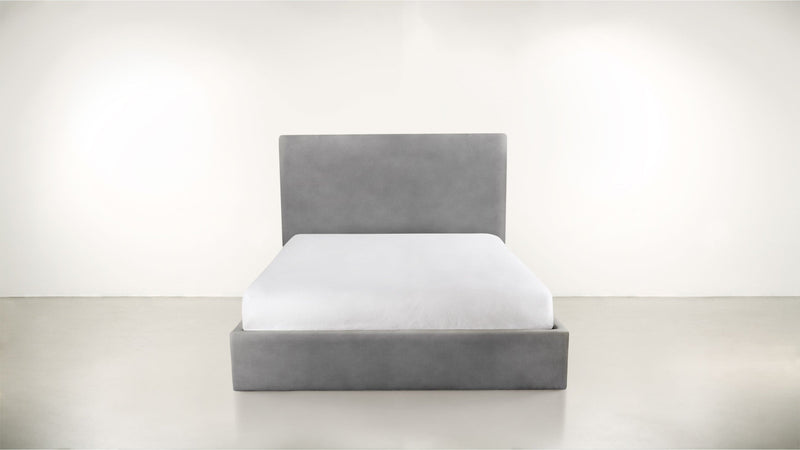 The Admirer Cal King Bed Cal King Structured Velvet Gladiator Gray Whom. Home