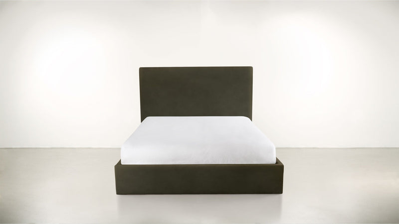 The Admirer Cal King Bed Cal King Structured Velvet Malachite Whom. Home
