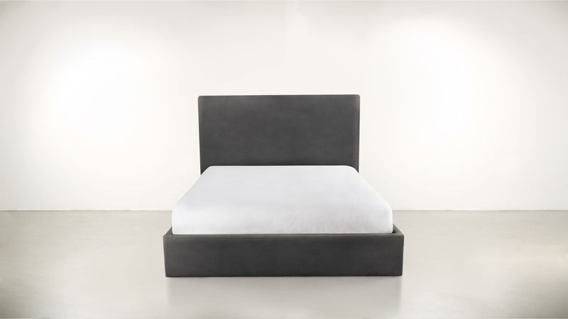 The Admirer Cal King Bed Cal King Structured Velvet Sterling Whom. Home