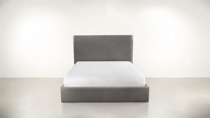 The Admirer Cal King Bed Cal King Velvet Knit Ash Whom. Home