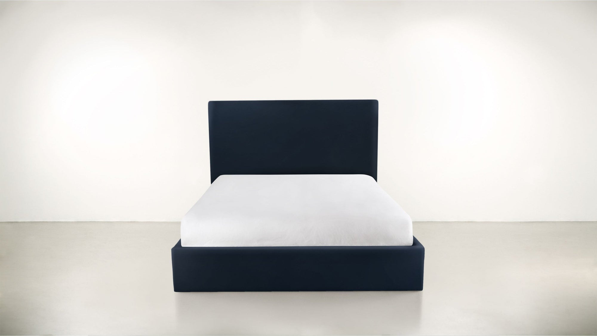 The Admirer Queen Bed Structured Velvet Eclipse Whom. Home
