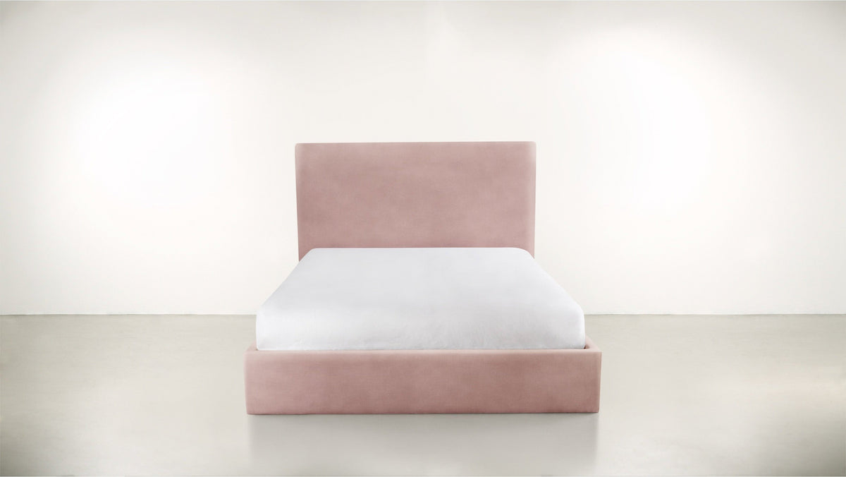 The Admirer Queen Bed Queen Bed Structured Velvet Eclipse Whom. Home