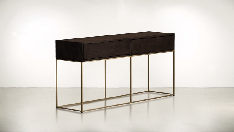 The Beau Idéal Console Console Chocolate / Brass Whom. Home