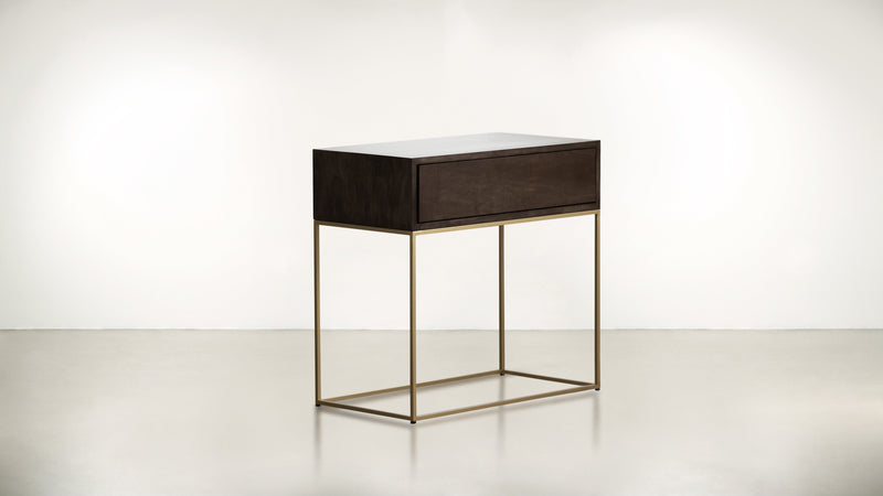 The Beau Idéal Nightstand Nightstand Chocolate / Brass Whom. Home